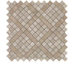 9MVB Marvel Travertino Silver Diagonal Mosaic 30.5x30.5