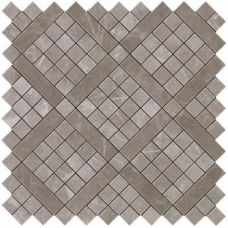Marvel Grey Fleury Diagonal Mosaic 30.5x30.5
