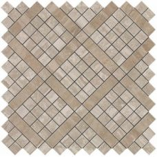 Marvel Travertino Silver Diagonal Mosaic 30.5x30.5