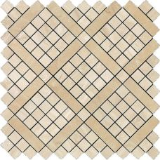 Marvel Travertino Alabastrino Diagonal Mosaic 30.5x30.5